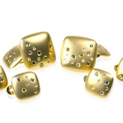 Chicklet Cufflinks Studs wht 800