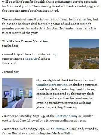 Win a Trip To Visit Etienne Perret in Camden Maine