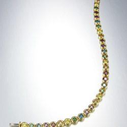 rainbow link bracelet wht 800