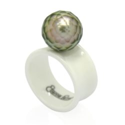 faceted silver wht big